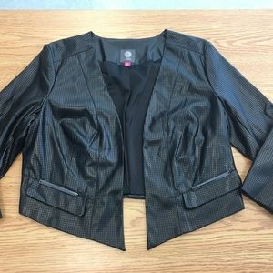 Vince Camuto MOTO jacket Faux Leather Sz M Black